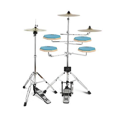 X-Kids Drum Dumb Drum Set Jazz Drum Child Adult Beginner Dumb Drum Pad Exerciser Hit Board Step On The Bottom of The Drum Gift (Color : Blue)