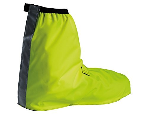 (VAUDE Bike Gaiter - Waterproof Shoe Cover with Reflective Elements - Breathable Cycling Overshoes with full length velcro closure - Neon Yellow - Size 36 - 39)