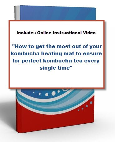 Kombucha Heating Mat plus INSTRUCTIONAL VIDEO by Get Kombucha