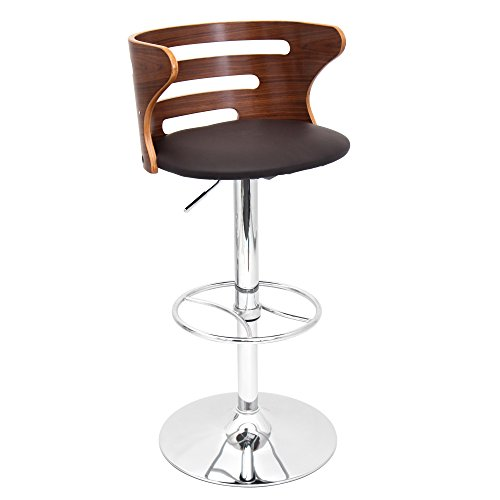 LumiSource BS-JY BN COSI Modern Barstool, Walnut Brown