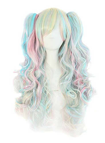 Lolita Multi color Ponytails Costume Cosplay product image