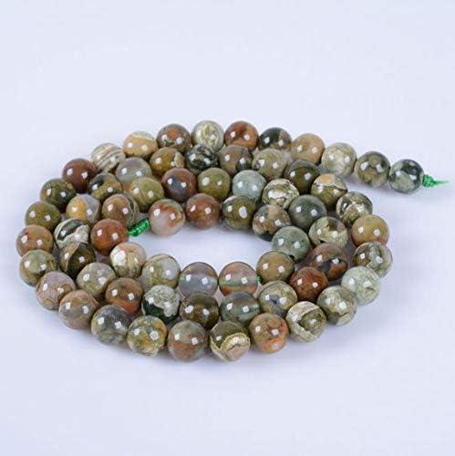 "Beads Bazar Natural Beautiful jewellery 6MM289 6mm Rhyolite jasper round ball loose gemstone beads 16""Code:- NY-8827"