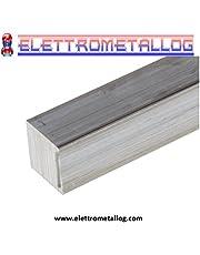 Barra quadra in alluminio 6082,larghe 10,15,20,25,30,35,40 varie lunghezze (40x40x500 mm)