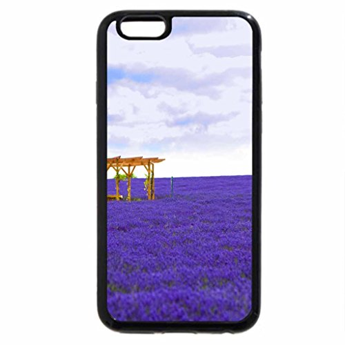 iPhone 6S / iPhone 6 Case (Black) Field of blue flowers