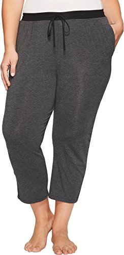 DKNY Women's Plus Size Capri Pants Charcoal Heather Pajama Bottoms (Dkny Womens Pants)