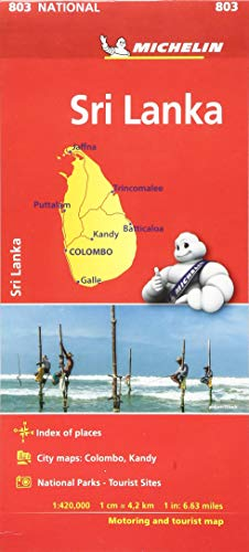 Sri Lanka National Map 803: Map (Michelin National Maps) (South India Map)