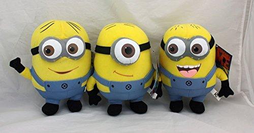 (Despicable Me The Movie Minions 10 Inch Plush Doll Toy Set Dave Jorge Stewart Stuart (Style)