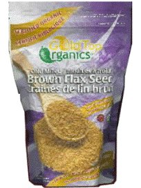 Cheap Flax Seed Meal (Ground)-Organic Brown (500g=1.1LB) Brand: Gold Top