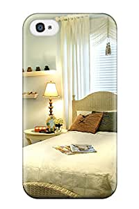 Excellent Iphone 4/4s Case Tpu Cover Back Skin Protector Girl8217s Graceful Blue Bedroom With White Wicker Bed And Accessories