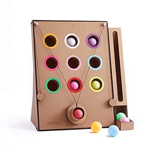 MVZVGO3D DIY 골 판지 수제 장난감 여러 가지 빛깔의 공 색상 정렬 낙서 키트 몬테소리 유치원 초기 학습과 교육을 위한 장난감은 어린이들에게 좋은 운동 기술 창작물에 대한 소년이나 소녀