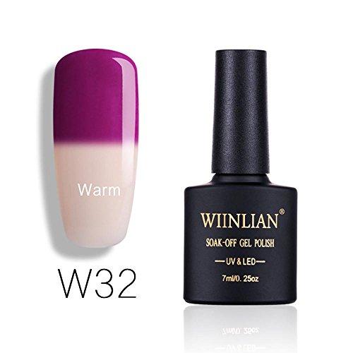 - Women's Temperature Changing Color Nail Polish, Iuhan 7ml Temperature Changing Gel Chameleon Nail Polish Nail Art Nail Polish Gel UV Soak-Off Thermo Glue Nail (H)