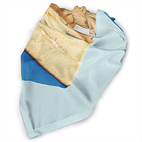 Pet Scarf Dog Bandana Bibs Triangle Head Scarfs Cake Blue Accessories for Cats Baby -
