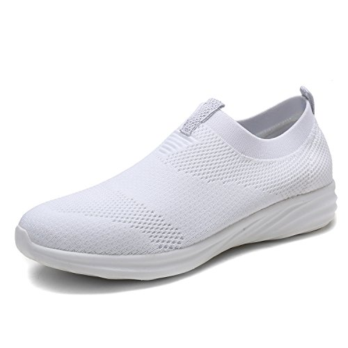 DREAM PAIRS Women's C0195 White Fashion Running Shoes Sneakers Size 7 M US