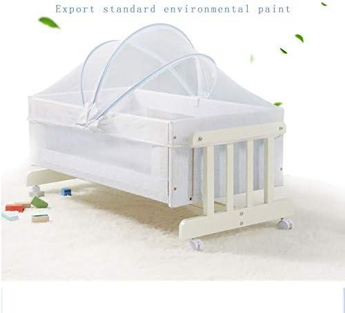 HLR-베이비 침대 & 가방 유아용 침대 접이식 침대 여행 휴대용 원목 소재 다기능 유아용 요람 침대 (Color: Yellow) / HLR-Crib & Bag Crib Folding Crib Travel Portable Wooden Material Multifunction Baby Cradle Bed (Color: Yellow)