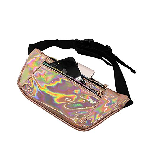 Daisy Storee Women Belt Bags Holographic Embroidery Waist Packs Fashion PU Flamingo Pineapple Wallet Fanny Pack heuptas Chest Banana Bags ins
