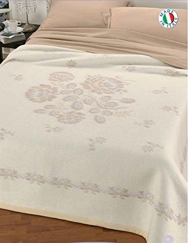Coperte Di Lana Matrimoniali.Centesimo Web Shop Coperta In 100 Lana Matrimoniale Beige Prodotta