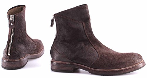 Scarpe Stivali Ankle Boots Uomo MOMA 58505-1B Harley TMoro Pelle Vintage ITA New