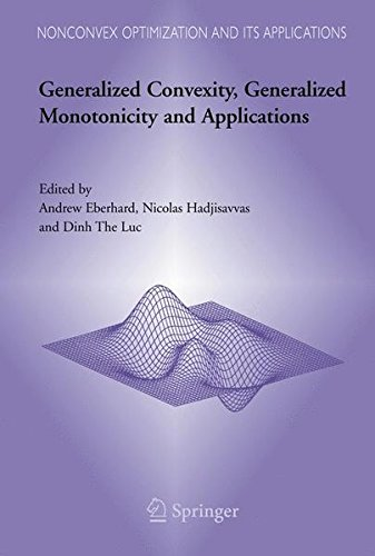 Generalized Convexity, Generalized Monotonicity and Applications: Proceedings of the 7th International Symposium on Gene