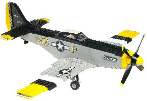 Mega Bloks P-51 MUSTANG Vintage WWII - Airplane P-51