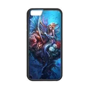 Diy Sea Mermaid For Iphone 5C Phone Case Cover Black Shell For Iphone 5C Phone Case Cover [Pattern]