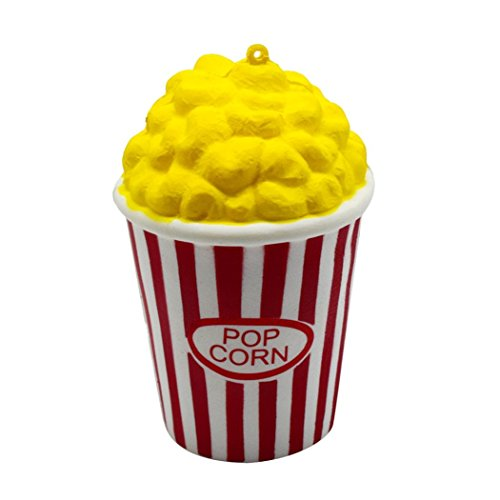 Geyou Squeeze Popcorn Cup Squishy Slow Rising Decompression Easter Strap Toy (red)