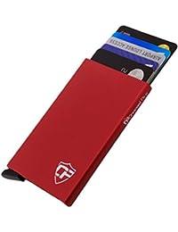 Card Blocr Best Minimalist Wallet | RFID Blocking Aluminum Credit Card Holder for Identity Theft Protection | Front Pocket Wallet Design Fits 4-6 Bank Cards | Slim Wallet Credit Card Case in 7 Colors