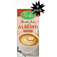 Pacific Natural Foods Barista Series Almond Blenders, Plain, 32-ounce Containers (4-pack)