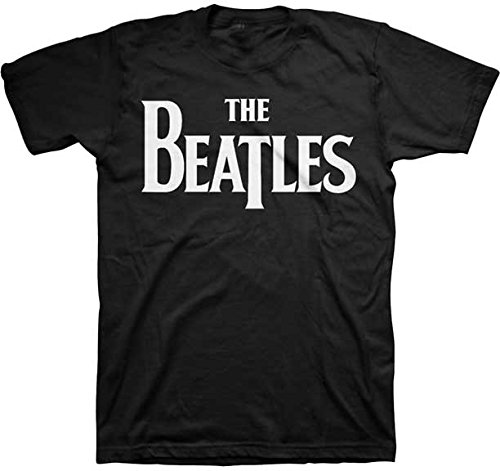 The Beatles Solid White Logo Men's Black T-Shirt ()