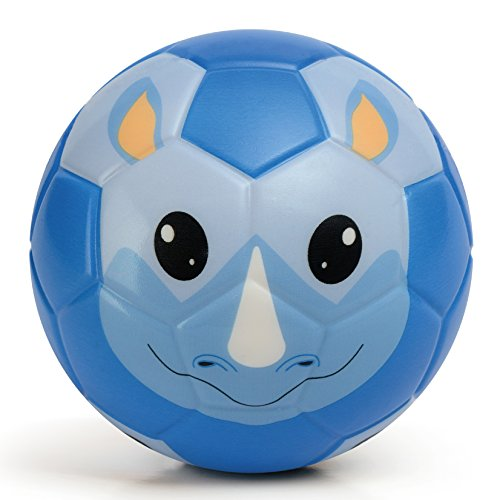 Chastep Soft Toy Ball, Mini Training Foam Soccer for Toddlers and Kids Gift - Serious Rhinoceros