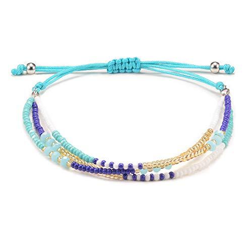 Jeka Handmade Wrap Friendship Braided Bracelet for Women Girls Woven Colorful Beads Charm Jewelry Waterproof Cords ()