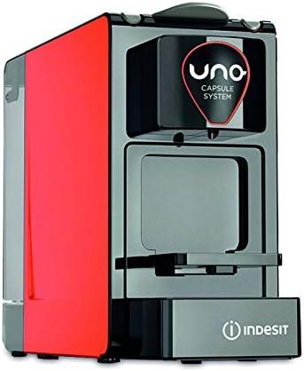 Indesit Uno - Cafetera (Independiente, Rojo, Espresso machine, Cápsulas, Café expreso, Agua caliente, 1L): Amazon.es: Hogar