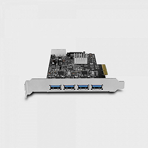 Vantec 4-Port Dedicated 10Gbps USB 3.1 Gen 2 PCIe Host Card with Dual Controller For PCIe x4/x8/x16 slot Black/Silver Black/Silver (UGT-PCE470-2C) by Vantec (Image #6)'