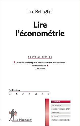 Livres Lire l'économétrie pdf, epub ebook