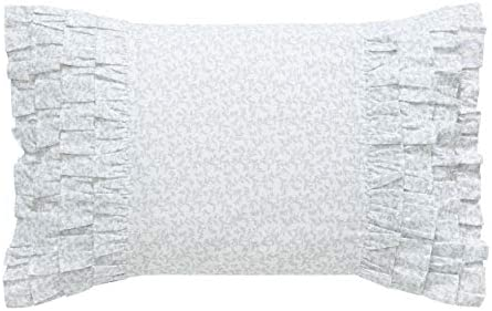 Laura Ashley Home Chloe Collection Perfect Decorative Throw Pillow, Premium Designer Quality, Decorative Pillow for Bedroom Living Room and Home D cor, 14 X 20 , Cottage Blue