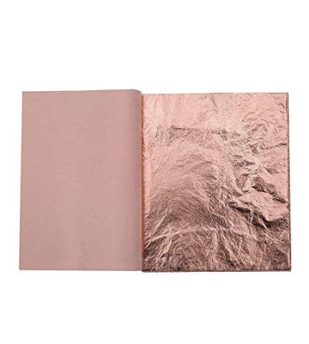 Kixnor 100 Sheets Imitation Gold Leaf for Arts, Gilding Crafting, Furniture Decoration, 5.5 by 5.5 Inches ()