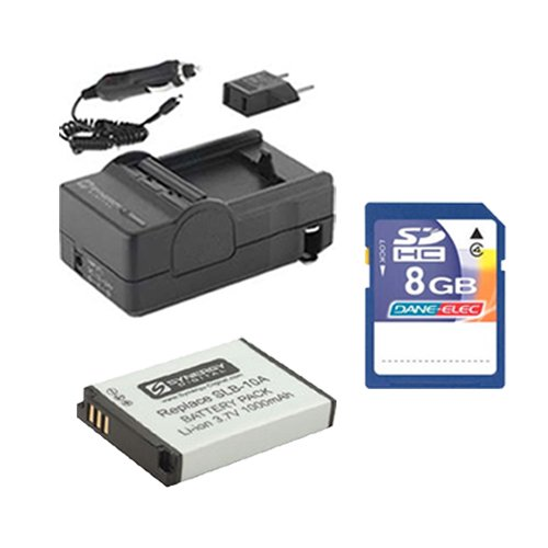 Samsung WB2100 Digital Camera Accessory Kit Includes: SDSLB10A Battery, SDM-1501 Charger, KSD48GB Memory Card