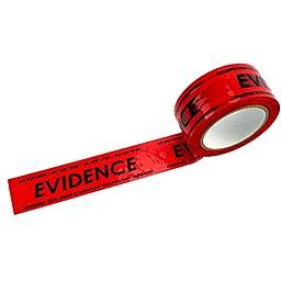 Crime Scene Red Evidence Box Sealing Tape