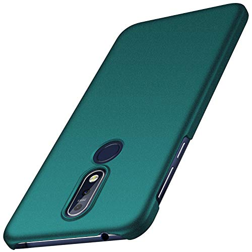 Nokia 7.1 Case, Almiao [Ultra-Thin] Minimalist Slim Protective Phone Case Back Cover for Nokia 7.1 (Gravel Green)