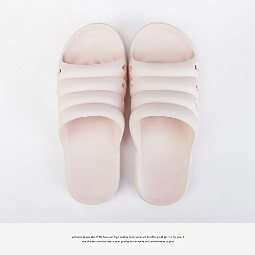 fankou con Antideslizante quedarse el Casa Rosa Verano Sra Suave de 36 Baño Frío de Zapatillas plástico Cubierta 37 Mujeres Zapatillas Baño de Parejas pfn7wrq6p
