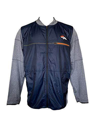 Jacket Mens Field Nike (Nike Mens Denver Broncos Shield Hybrid Jacket On-Field Jackets (Large))