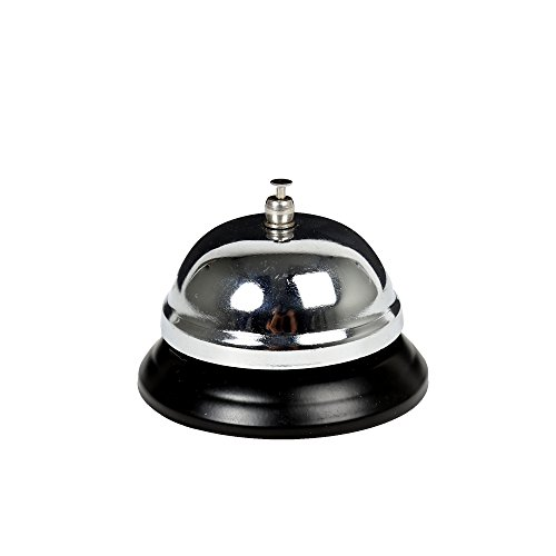 CTG, Office Works Collection, Classic Desk Bell, 3 inches, Silver
