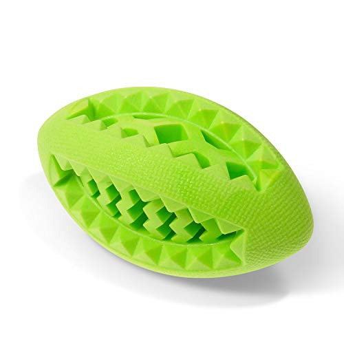 (Fluffy Paws Dog Treat Ball, Soft Rubber Dog Toy Chewing Feed Ball (Dental Treat & Bite Resistant) Durable Non-Toxic Teething, IQ Training & Playing for Small and Medium DogPuppy, Green)