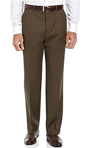 Ralph Lauren Total Comfort Dark Brown Wool Dress Pants Flat Front 33W x 32L Acetate Flat Front Pants