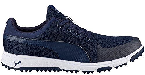 PUMA Men's Grip Sport Golf Shoe, Peacoat/White, 10 Medium