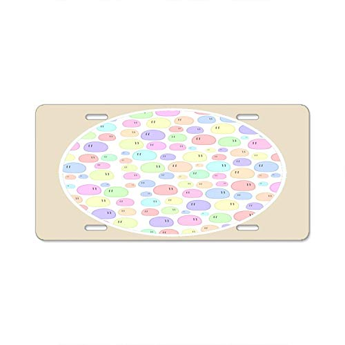 YEX Abstract Circle Edition License Plate Frame Car Licence Plate Covers Auto Tag Holder 6