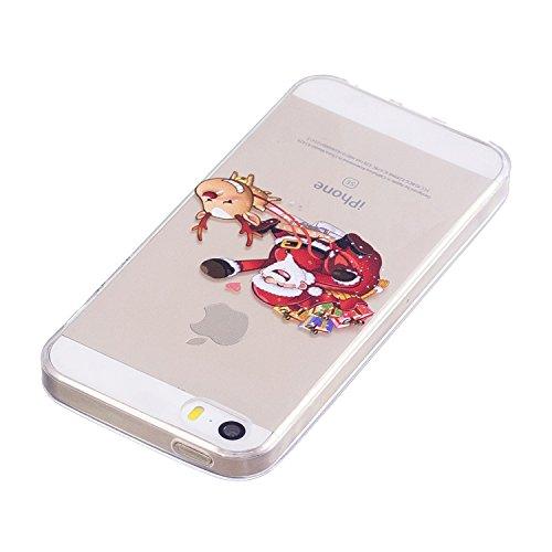 iPhone 5 5S SE Custodia , Moda Regalo Di Elk Amorevole Silicone leggero Morbido TPU Sollievo Sottile Protezione Antiurto Copertura Antiscivolo Resistente Coperture Cover Case Custodia per Apple iPhone