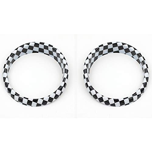 ABS Front Light Fog Lamp Surround Frame Cap Cover for Mini Cooper F60 Countryman CW (Checker) ()