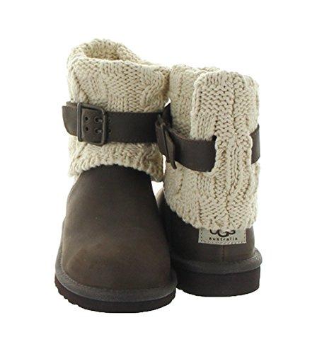 UGG Australia Girl's Cambridge Leather Chocolate Leather Boot 13 M US by UGG (Image #2)