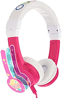 Explore Foldable Model: Foldable Pink housing adjustable for iPad Kids Headphones by Onanoff built in headphone splitter In Line Mic Detachable Cable Blue comp super durable 2 Pack volume limiting lock