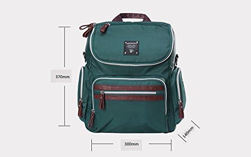Bolso de la momia de la manera, bolso de la madre, bolso del bebé de la madre, bolso de hombro, bolso de la madre de la cruz oblicua de la capacidad grande de múltiples funciones ( Color : Verde ) Negro